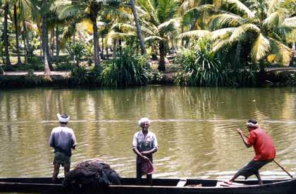 10 - 11 Apr 1995: India, Kerala, Backwater Cruise