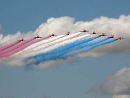 Sat, 14 Jul 2007: Back in England, Fairford, Red Arrows