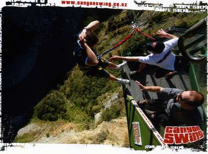 Tue, 27 Mar 2007: New Zealand Campervan, Queenstown, 40th Birthday, Canyon Swing